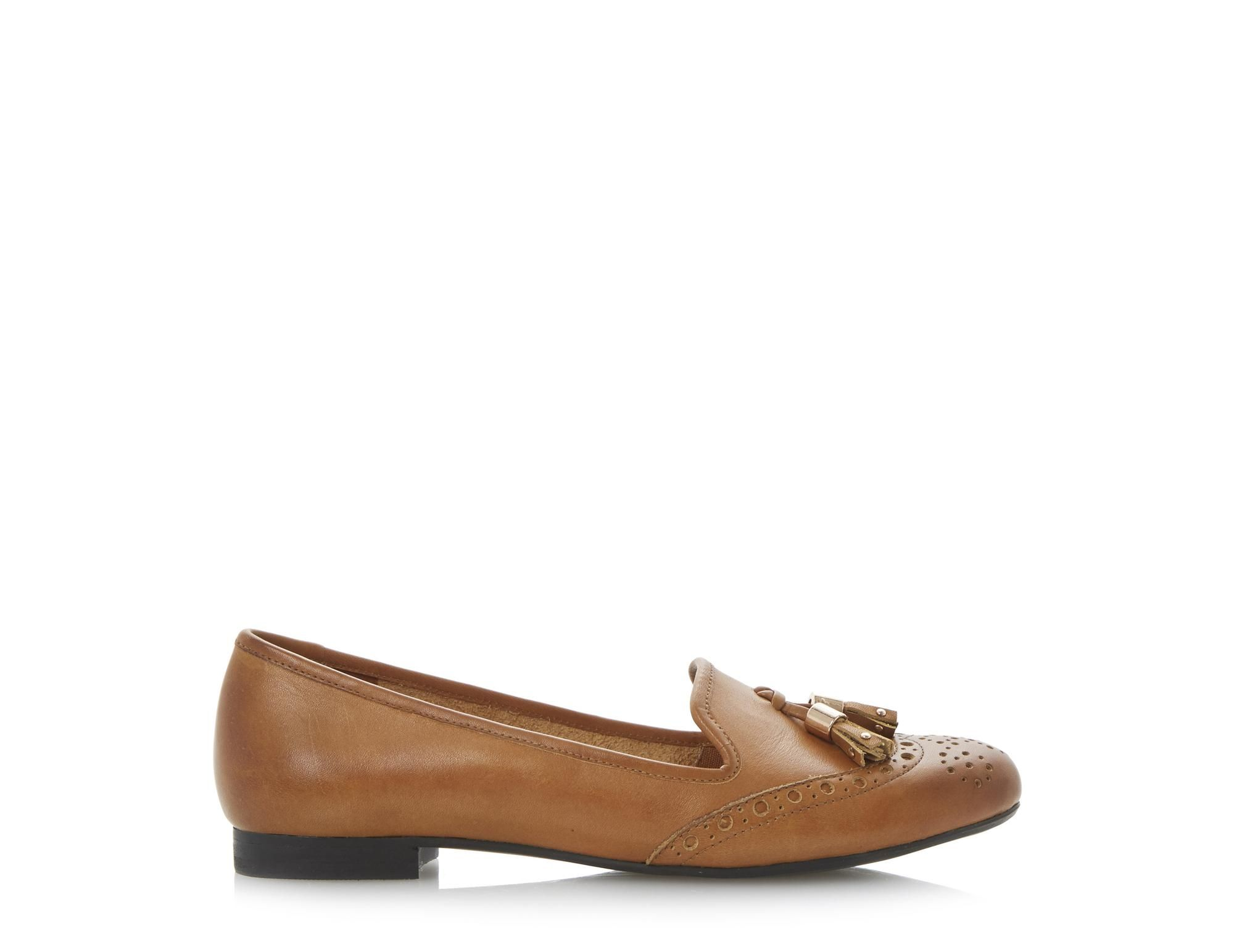 ee0209009e2 DUNE LADIES LOKI - Brogue Tassel Detail Loafer - tan