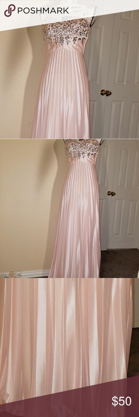 Final price drop pearl pink my michelle dress my posh picks