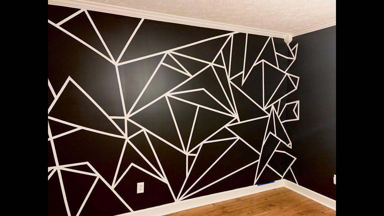 Geometric Wall Inspired By David Dobrik Ameeandkeekee Geometric Wall Bedroom Wall Paint Bedroom Wall Designs