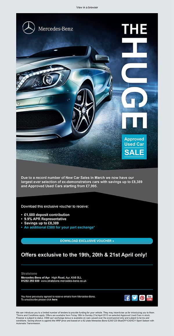 Stratstone Mercedes-Benz Approved Used Car Event Emailer by Emma ...