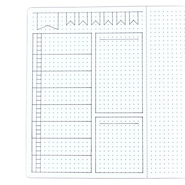 Weekly Layout Template For Anyone Who Might Be Interested Bujo