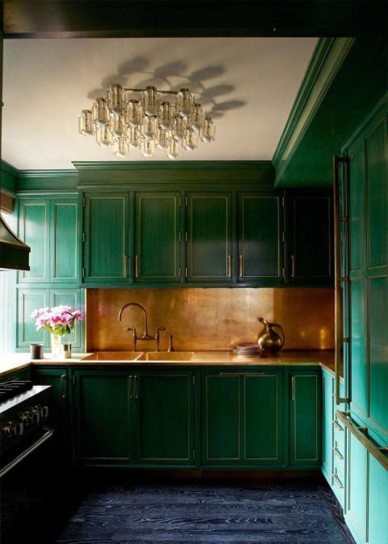 15 Kitchens With Bright Green Cabinets Kitchen Green Kitchen