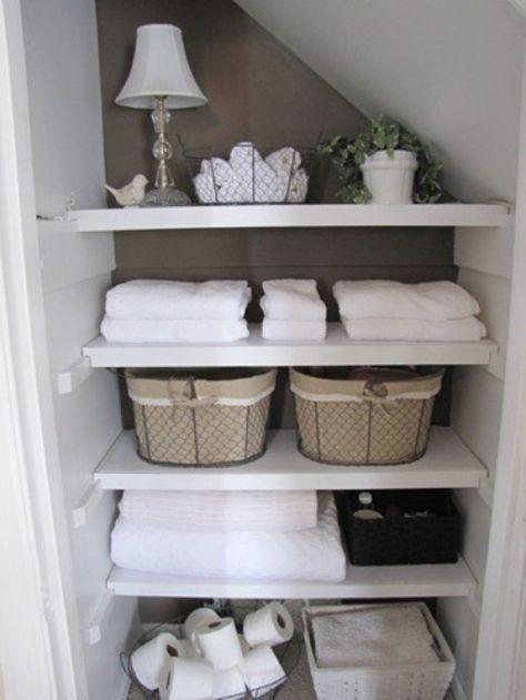 Super Einteilung für ein kleines Badezimmer. So kann man ...
