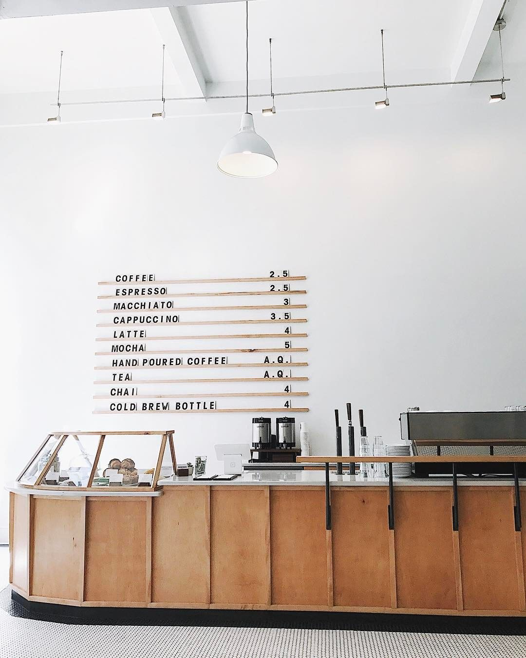 Coffee Shop Menu Board Pastry Display Countertops And Penny Tile Coffee Shop Menu Board Coffee Shop Menu Coffee Shop