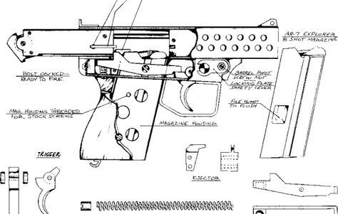 Homemade Gun Plans Homemade Pistol Guns Pinterest 22 Pistol