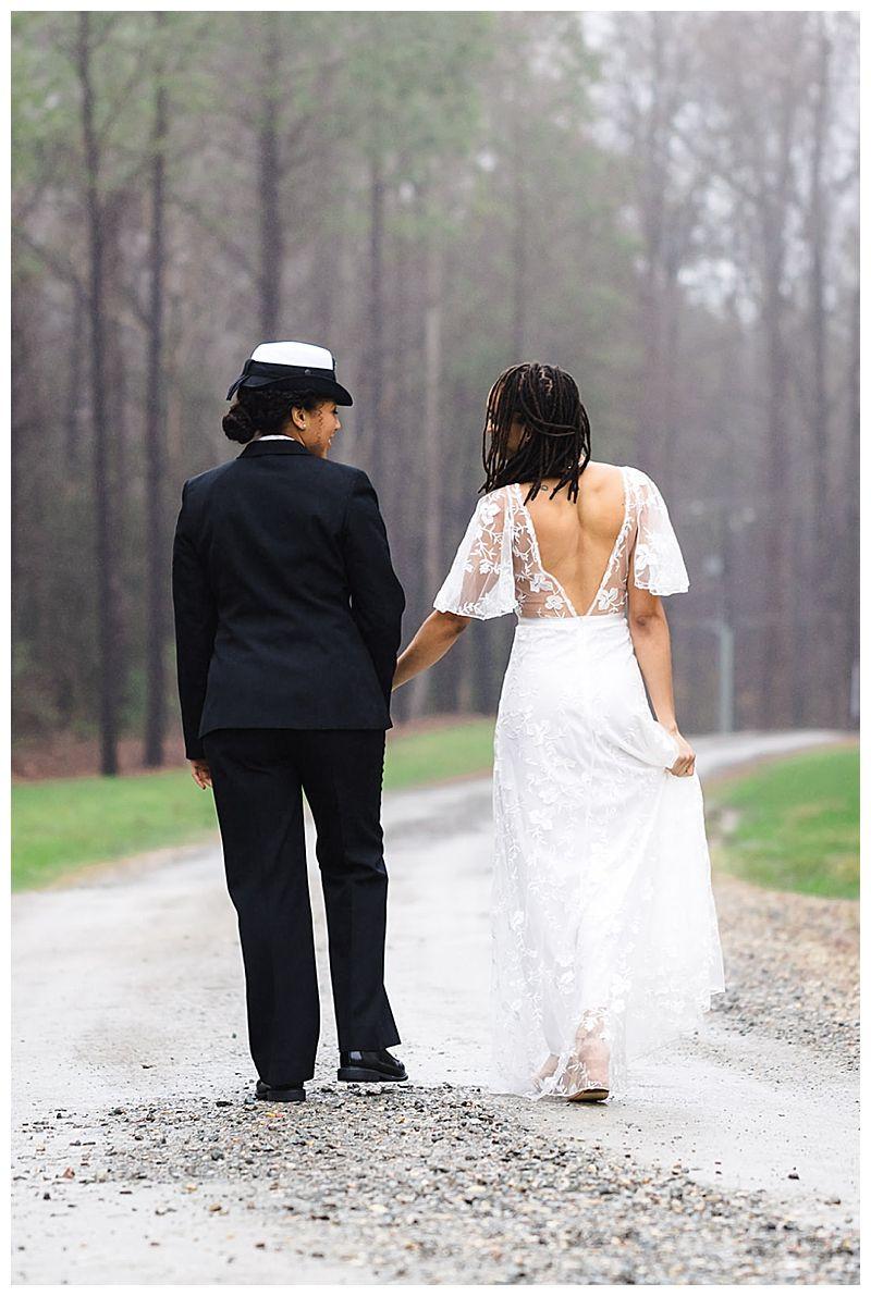 Virginia Wedding Inspiration With Military Style Lesbian Wedding