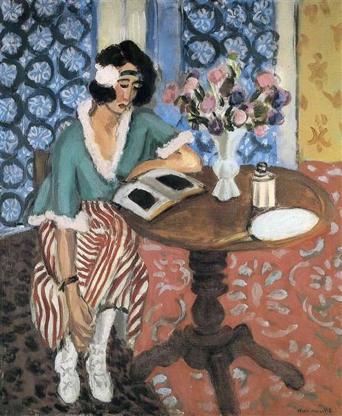 Woman Reading Henri Matisse Style: Expressionism Genre: genre