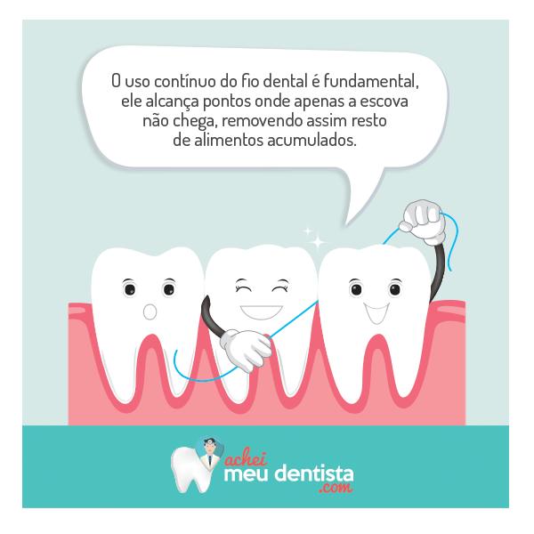 825395437 Usar corretamente o fio dental remove a placa bacteriana e os alimentos  onde a escova não consegue alcançar facilmente. Curta nossa página no  Facebook  ...