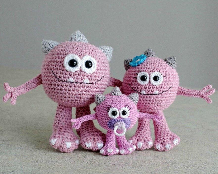 PATTERN - Huggy Monster (crochet, amigurumi) - in English by ...