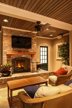 Decorating a mantel with a tv above mantels and brick - Mantel decor ideas with tv ...