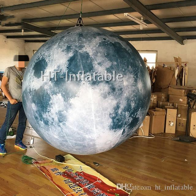 Wholesale Cheap Inflatable Led Lighting Moon Brand -free