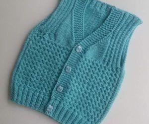 Photo of Hand-Knit-Baby- Vest- Bolero | Nazarca.com,  #BOLERO #HandKnitBaby #Nazarcacom #vest