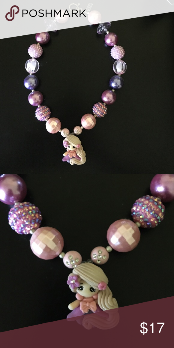 Rupunzal chunky bubblegum necklace Handmade, high quality Rupunzel chunky bubblegum necklace. Simply pair with your little cuties outfit or as a prop for a photo shoot! Disney Jewelry Necklaces