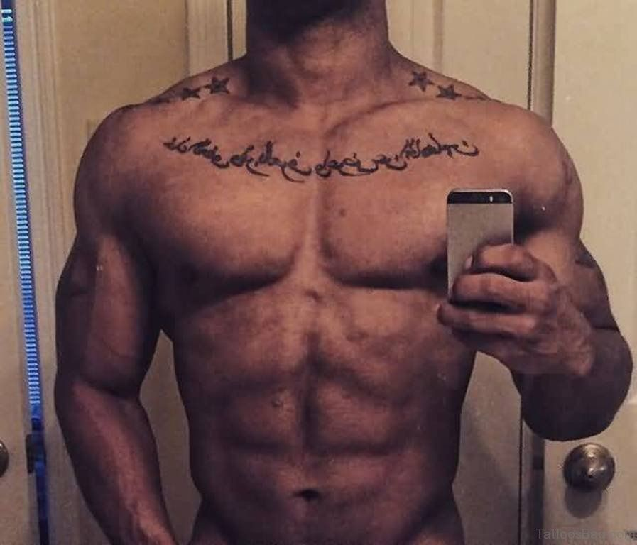 45 Intriguing Chest Tattoos For Men: 41 Arabic Tattoos For Chest