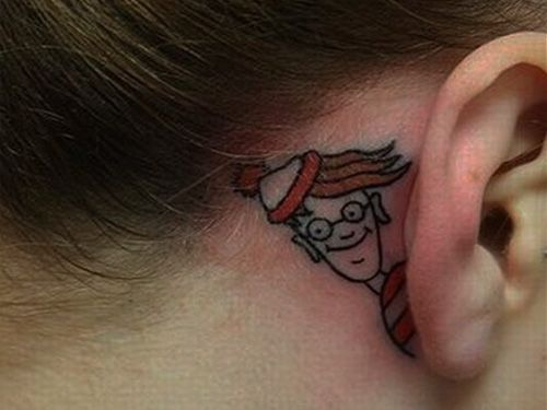 @Michael Avila I FOUND the perfect behind-the-ear tattoo for you.... :P