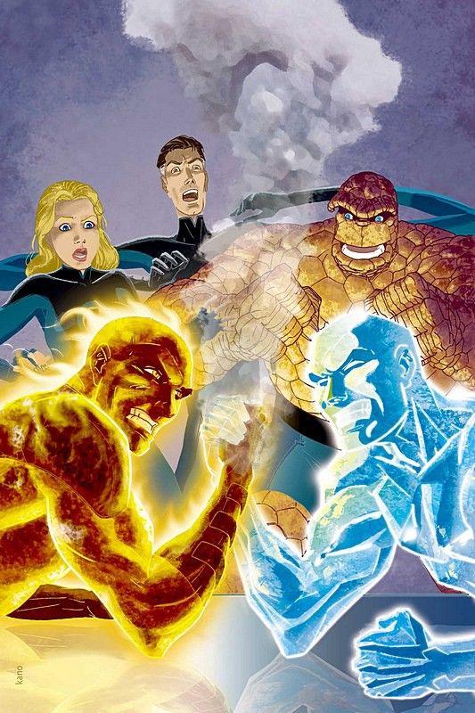 Iceman vs Human Torch