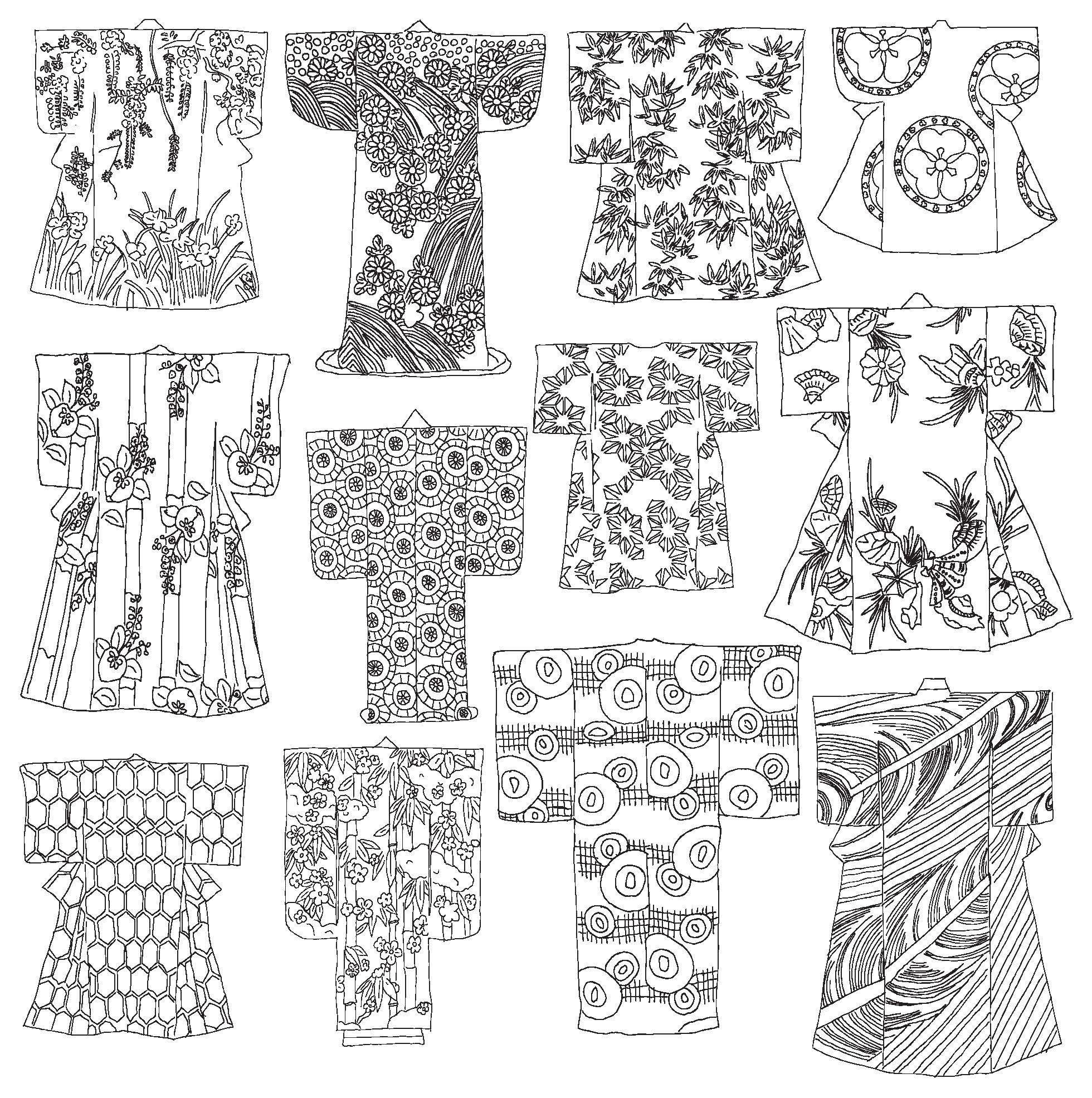 Coloring pages japan - Secret Tokyo Color Your Way To Calm Zoe De Las Cases 9780316265843