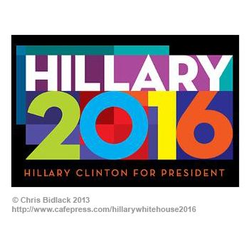 Chris Bidlack's Hillary 2016 Poster design. Never too early!