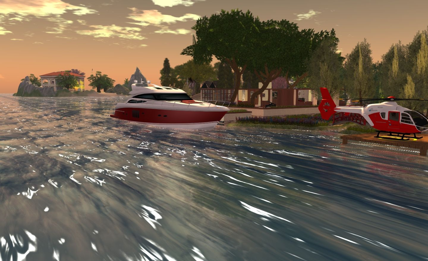 """Wave effect using the Trompe Loeil """"Cresting"""" normal water map"""