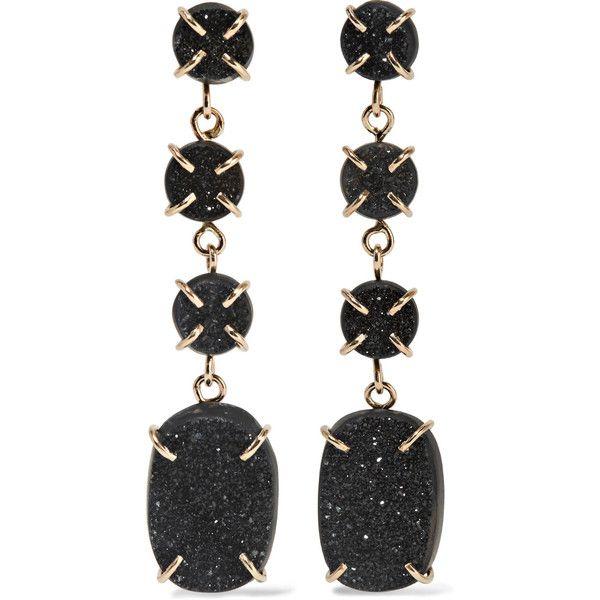 Melissa Joy Manning 14-karat gold druzy earrings (31,445 MXN) ❤ liked on Polyvore featuring jewelry, earrings, brincos, accessories, gold, melissa joy manning earrings, sparkle jewelry, 14 karat gold jewelry, drusy jewelry and druzy jewelry