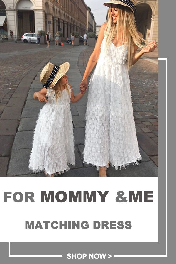 Fluffy Matching Long Dress for Mommy and Me #babydresses