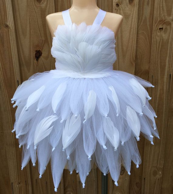 swan tutu swan tutu dress white flower by josiejosheadbands mix pinterest kost m diy. Black Bedroom Furniture Sets. Home Design Ideas