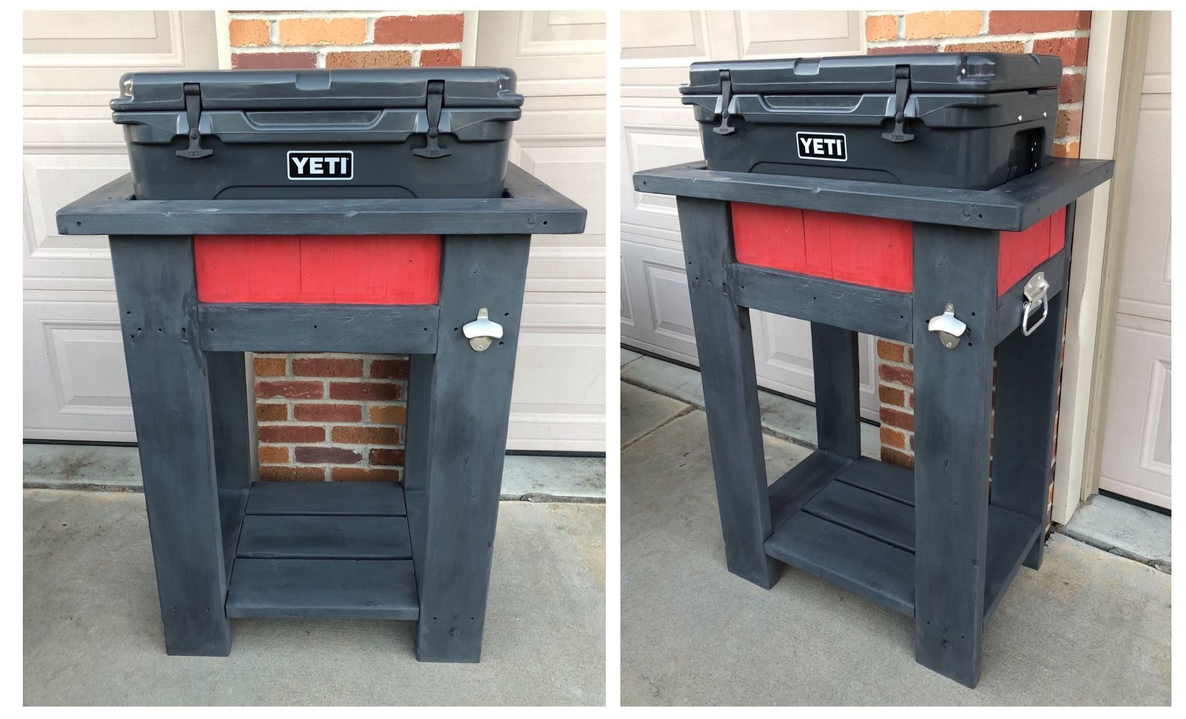 Yeti Cooler Stand Made A Cooler Stand For My 45 Quart Yeti Cooler Painted Charcoal Paint Yeticoolers Yeti Coolers Cooler Stand Yeti Cooler