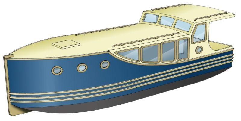 Bauplan Backdecker-Kajütboot 836 für Außenbordmotor