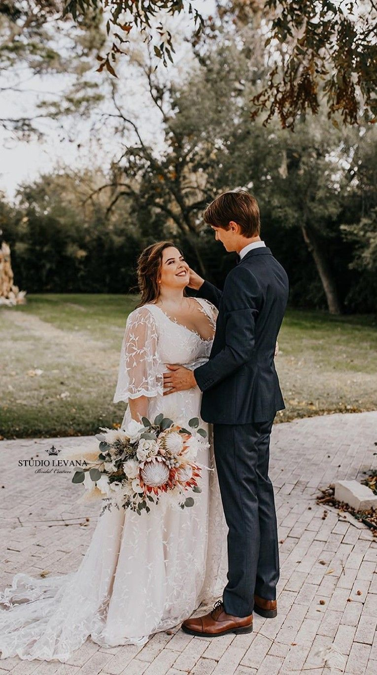 Beautiful Romantic Bohemian Plus Size Wedding Dress With Flutter Sleeves From St Beau Plus Wedding Dresses Wedding Dress Inspiration Plus Size Wedding Gowns [ 1368 x 765 Pixel ]