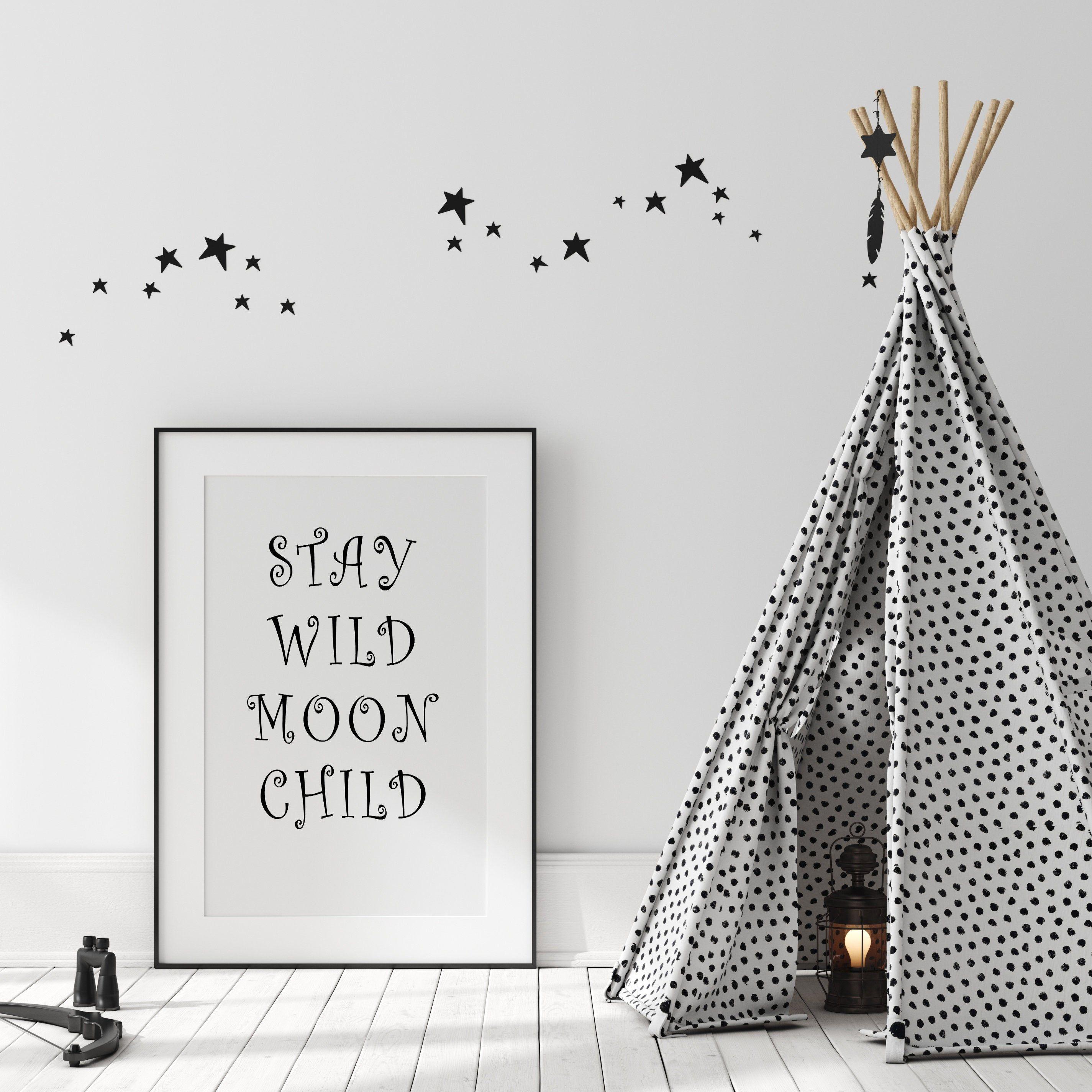 boys Monochrome Wall Art Kids Room Nursery Personalised Print