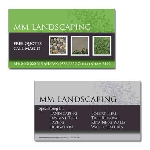 Business Card Company Showcase Lovely Simple Design For Mm Landscaping Card Companies Business Cards Cards