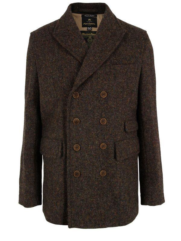 Nigel Cabourn 1940 S Db Brown Harris Tweed Jacket Harris Tweed Jacket British Style Men Tweed