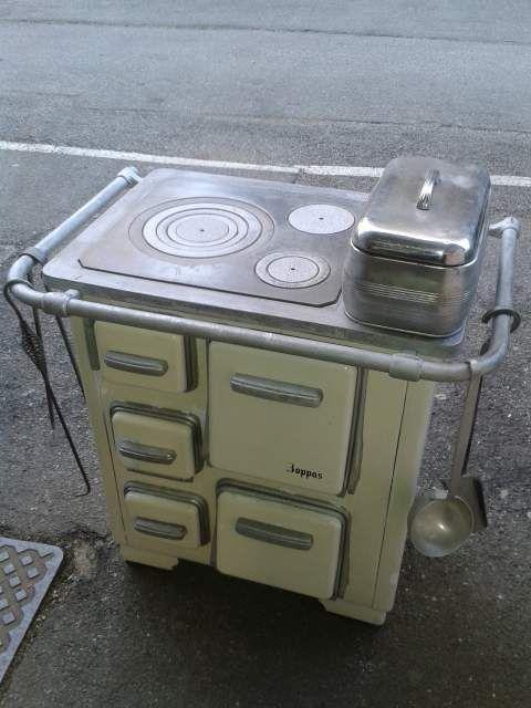Stufa funzionante a legna cucina economica bianca zoppas ...