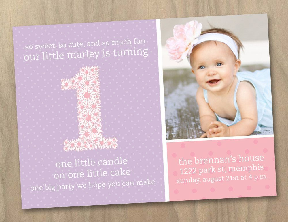 First Birthday Invitations Walmart Bday Invi Car Pinterest - 1st birthday invitations girl purple
