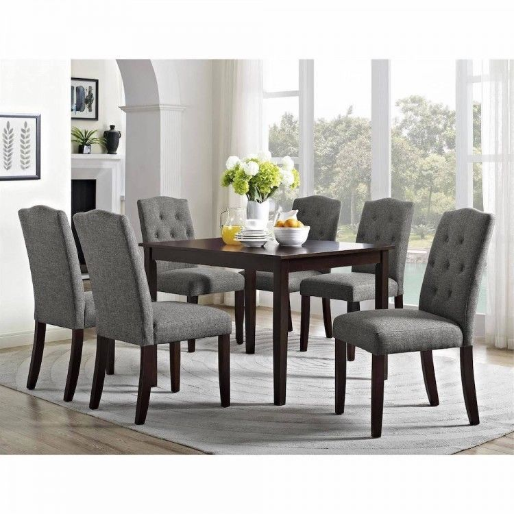 7 Piece Dining Dining Table Chairs Set For 6 Solid Wood Room