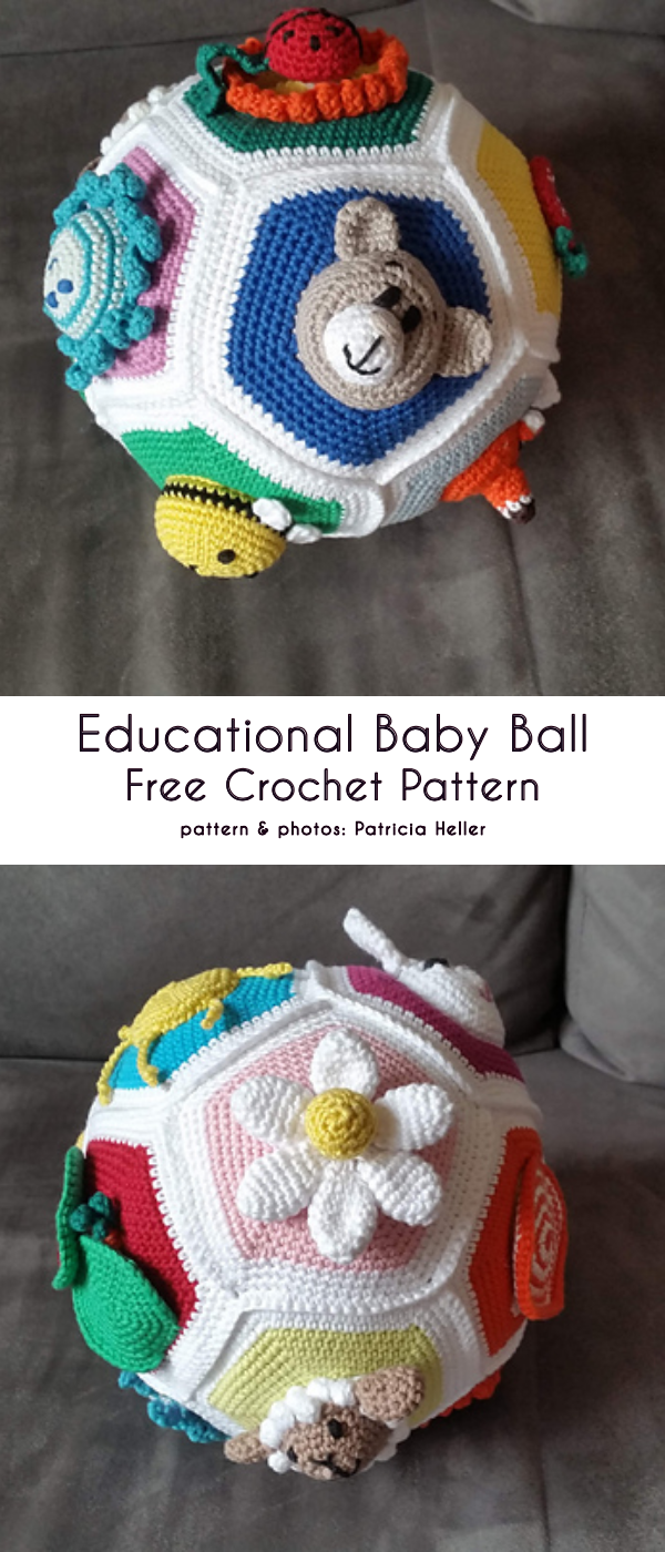 Photo of Fun and Educational Baby Ball Free Crochet Patterns
