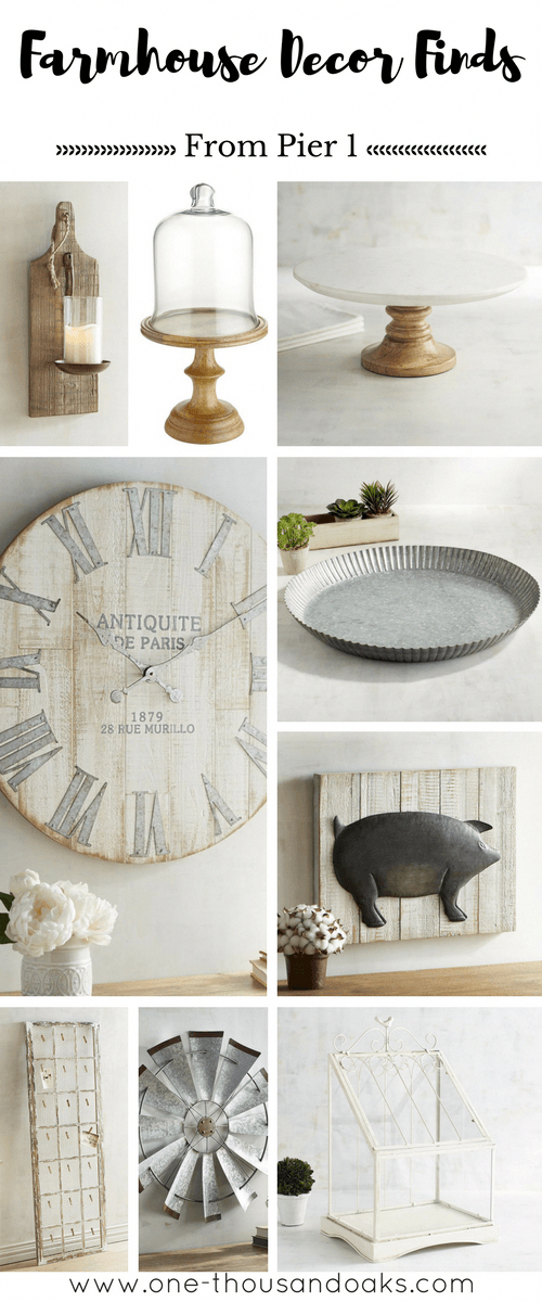 A Fun Round Up Of All Things Farmhouse Decor That Can Be Found At