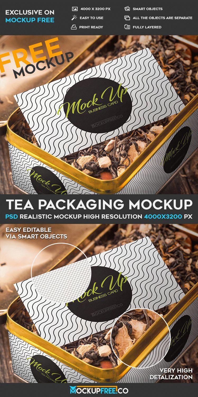 Free Tea Packaging PSD Mockup   Free PSD Templates   #free ...