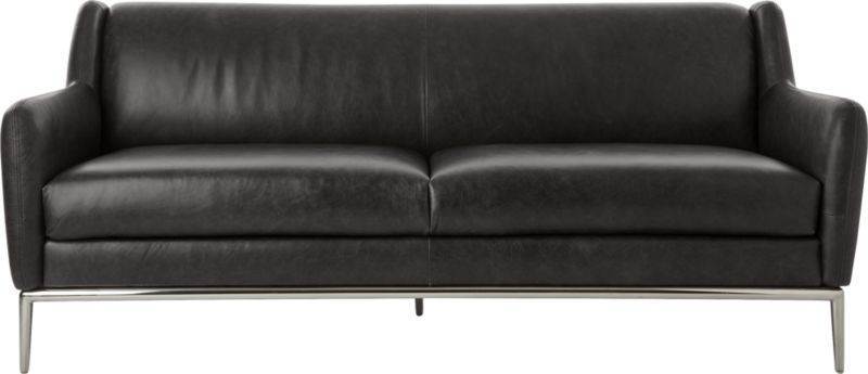 Alfred Black Leather Sofa | Products | Pinterest