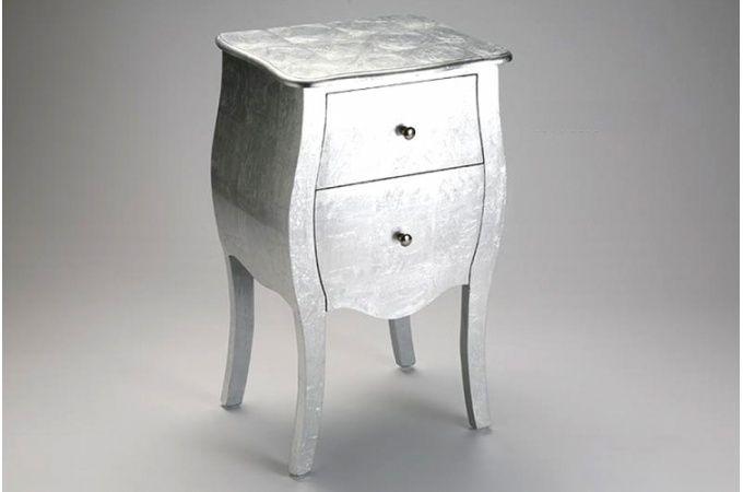 table de chevet baroque argente arlette tables dappoint pas cher - Table De Chevet Pas Cher