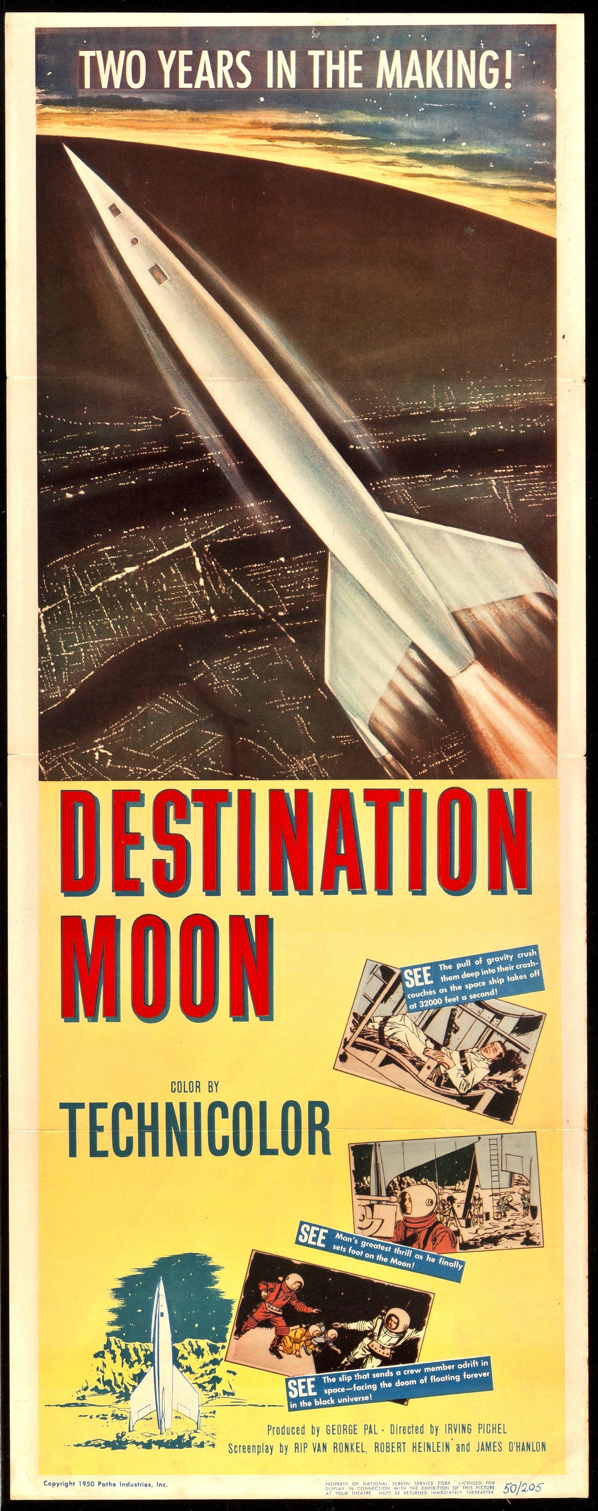 Destination moon 1950 science fiction movie posters