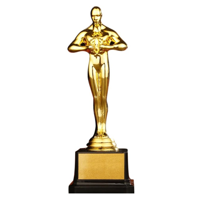 Oscar Trophy Gold Plated Gold Award Trophy Statuette Team Sport Competition Crafts Souvenir Party Celebration Gift On A Novelty Lamp Oscar Trophy Awards Trophy