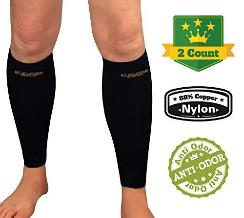 3b1054fd36 Calf Sleeve With Graduated Compression 88 Copper Infused Calf Brace Medium  Pair *** To view further for this item, visit the image link.