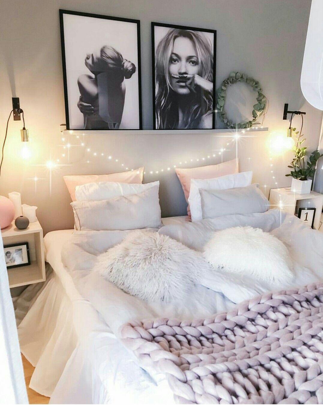 Chambre cozy idées rose gris | Ma chambre en 2019 ...