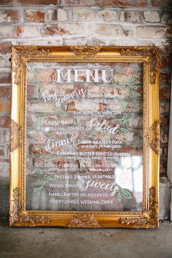 Another classy choice! Gold framed glass\/ acrylic insert wedding - r ckwand k che plexiglas