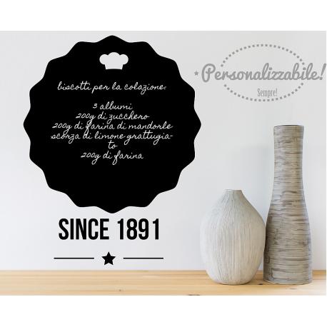 Lavagna adesiva da cucina lavagnetta wall stickers Since   LAVAGNE ...