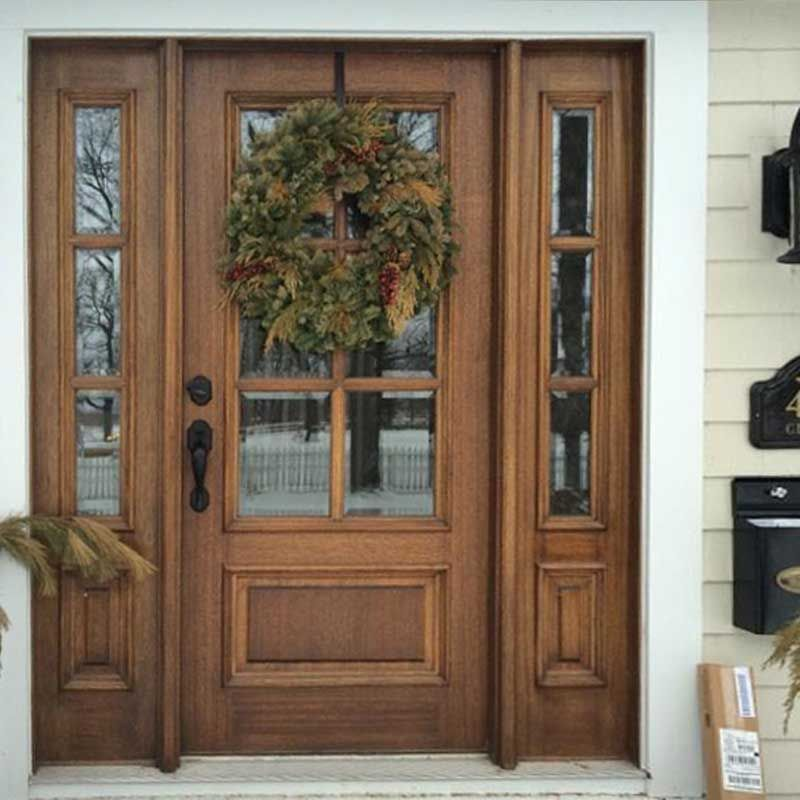 Beau True Divided 6 Lite With Panel Bottom Mahogany Entry Door With Two  Sidelites [u003c
