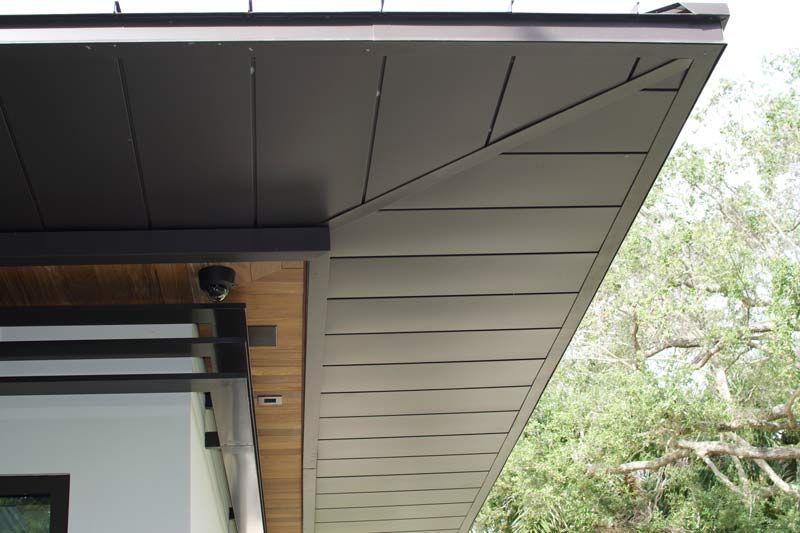 Dark Roof Soffit Google Search Aluminum Siding Metal Homes Siding