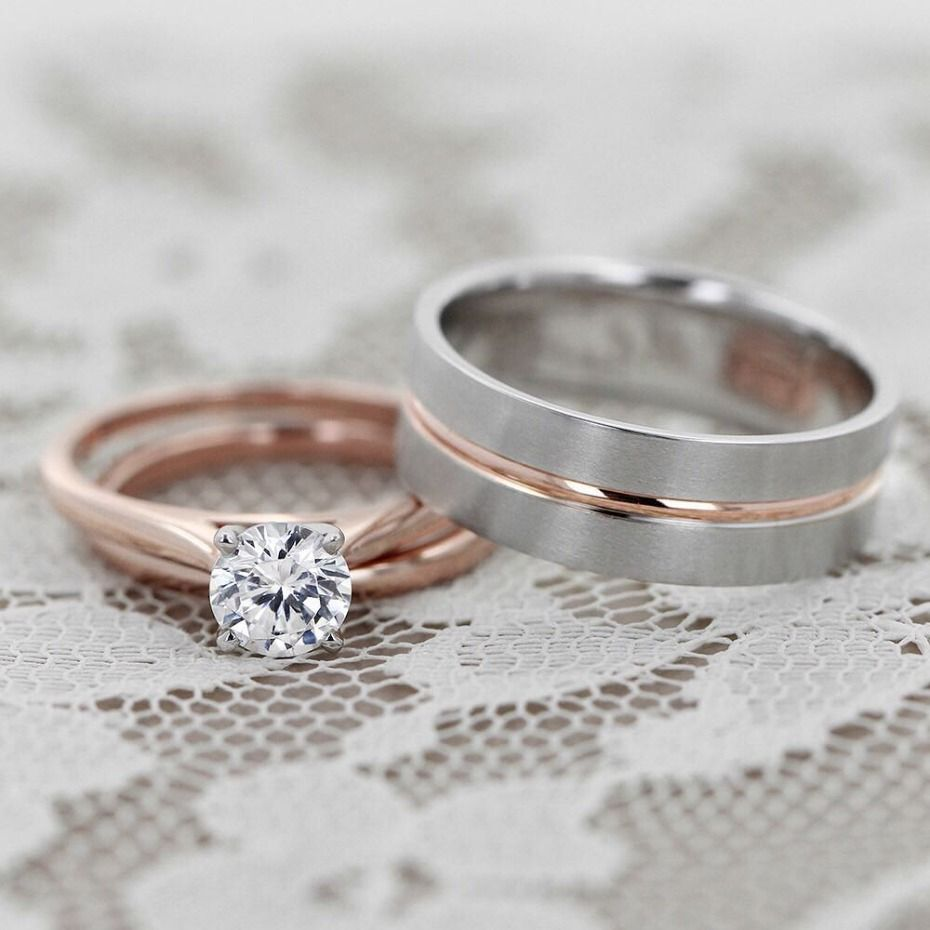 7 Rose Gold Rings We Love From Miadonna Wedding Ring Bands Mens