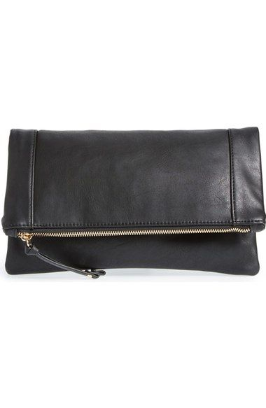 af111a57c117 Sole Society 'Marlena' Faux Leather Foldover Clutch available at #Nordstrom